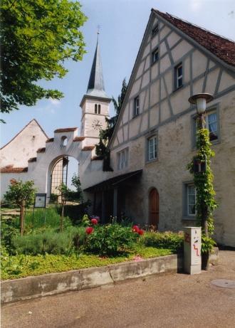 Das Dorfmuseum befindet sich bei der katholischen Kirche.