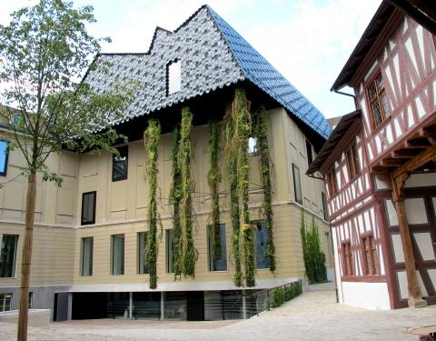 Das Haupthaus mit malerischem Innenhof
