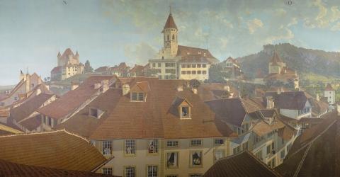 Marquard Wocher, Panorama der Stadt Thun (Detail), 1809-1814