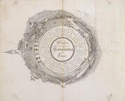 Orientierungsplan von Marquard Wocher für das Thun-Panorama