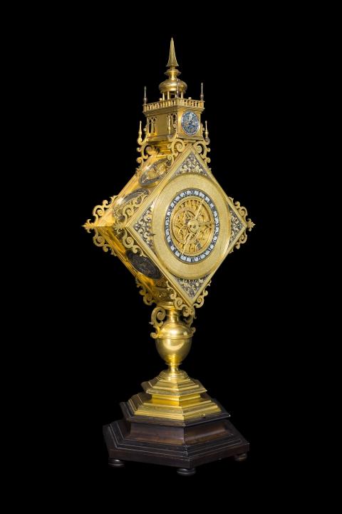 Astronomische Prunkuhr in Form einer Monstranz, Augsburg, um 1600
