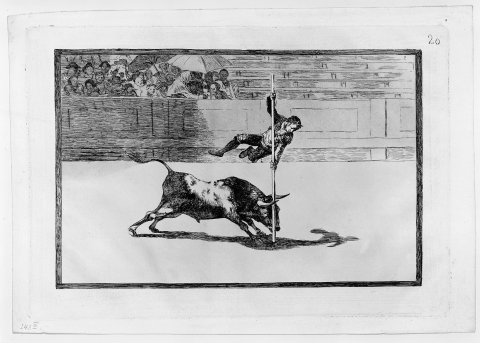 Francisco de Goya, Blatt Nr. 20 aus: La Tauromaquia, 1816