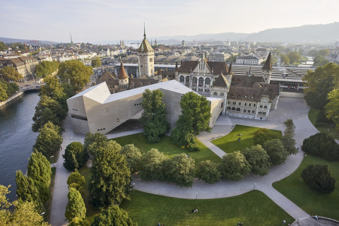 The National Museum Zurich: a combination of old and new.