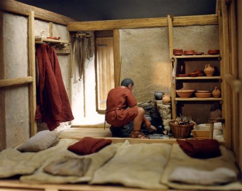 Modell einer römischen Soldatenunterkunft