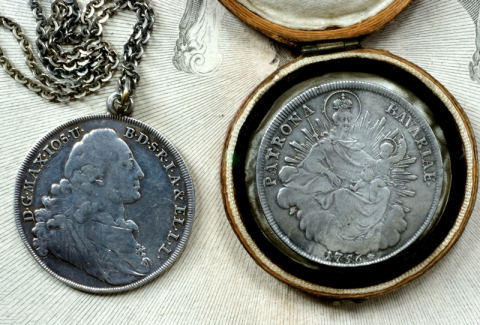 Als Geburtsamulette verwendete Marientaler, Bayern, 18. Jh.