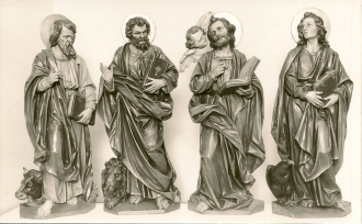 Die vier Evangelisten: Lukas, Markus, Matthäus, Johannes