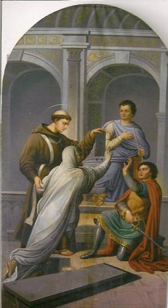 Das Ölbild: Fridolin mit Ursus