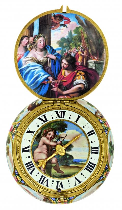 Théagène et Chariclée Montre pendentive, 1660 Inv. S-200