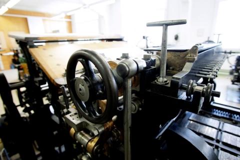 Hamm Schnellpresse aus dem Jahre 1900