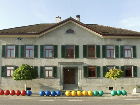 Schulhaus Mühlebach, erbaut 1846, heute Schulmuseum.