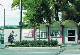 Eingang der Schweizerischen Theatersammlung.