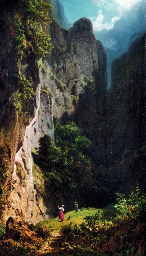Carl Spitzweg, Heuernte im Gebirge