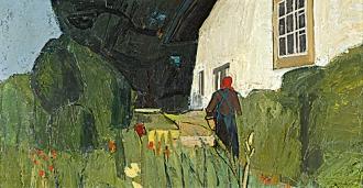 Albert Schnyder, Paysanne au jardin, 1953