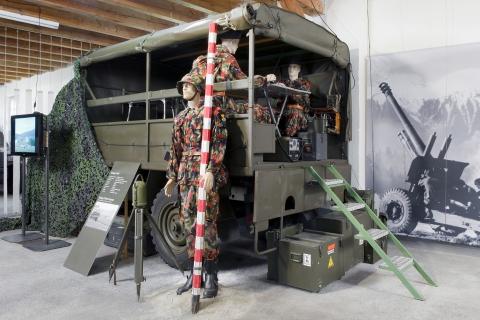 Entwicklung der CH-Artillerie. 60 Radfahrzeuge & Panzer.