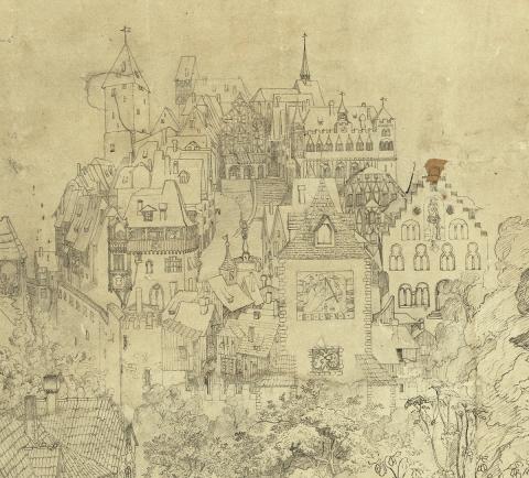 G. Keller, «Mittelalterliche Stadt» | ZB Zürich, GKN 60
