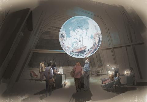 Visualisierung des Ausstellungsraum «Vom Kommen und Gehen»
