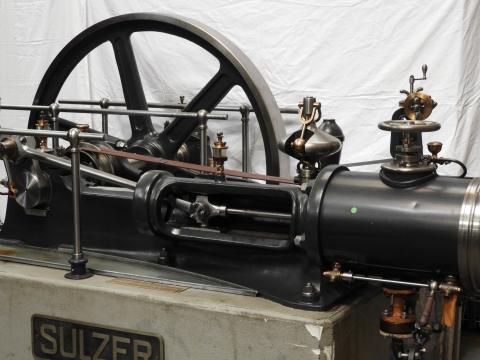 1-Zylinder Dampfmaschine Sulzer Gebaut 1890