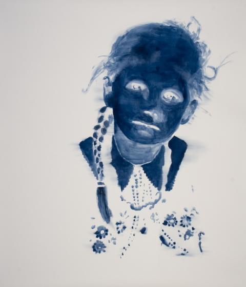 Uwe Wittwer, «Porträt negativ», 2008, Aquarell auf Papier