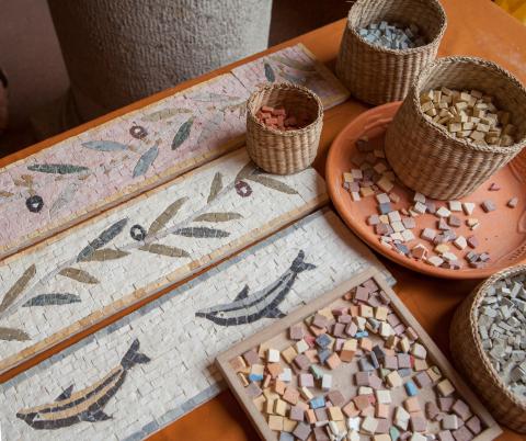 Augusta Raurica, Mosaiken, Foto: Susanne Schenker
