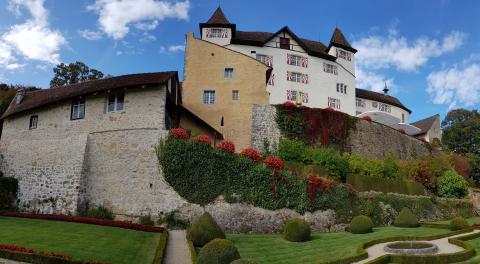Panoramaansicht Schloss Wartenfels